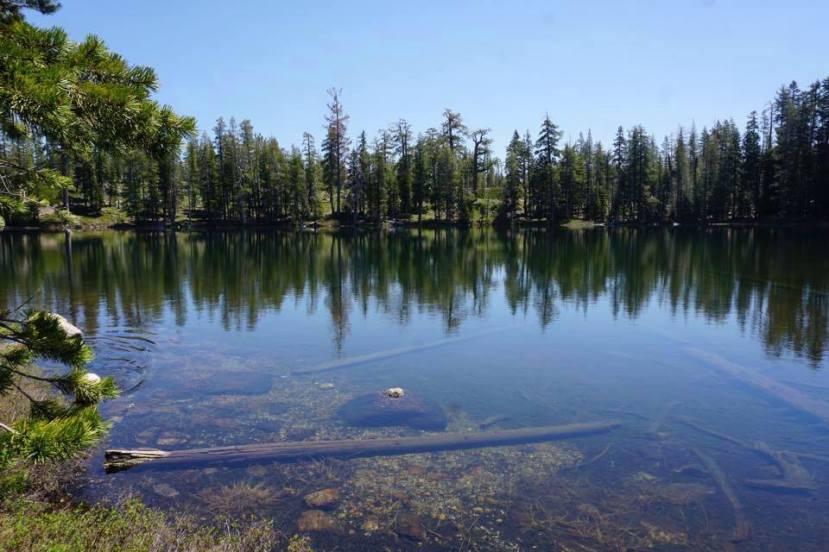 9 acre lake at Camp Wamp