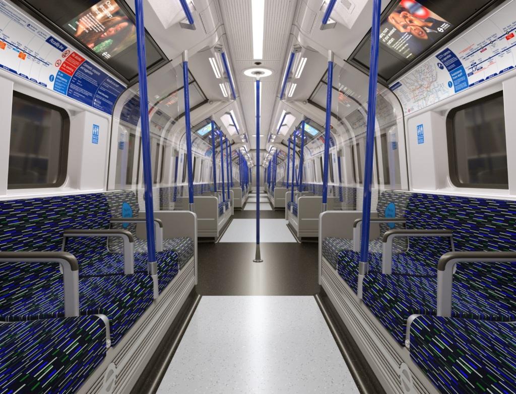 Inside the train - double doors